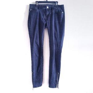 Michael Kors Black Ankle Zipper Jeans Size 2